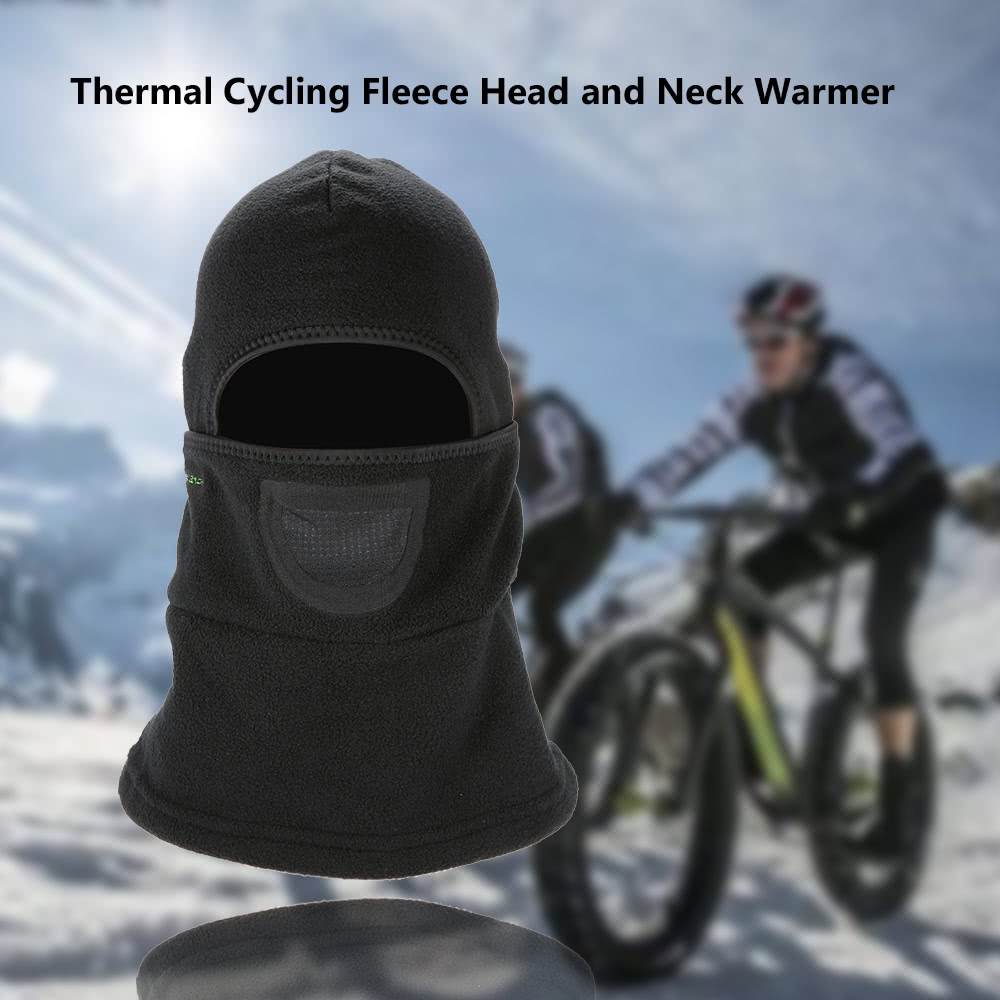 445ed645123  ROCKBROS Thermal Cycling Fleece Dust-proof Windproof Winter Neck Warmer  Collar Headscarf Face Mask Caps MTB Mountain Black Masks Guard Head Cover  Outdoor ...