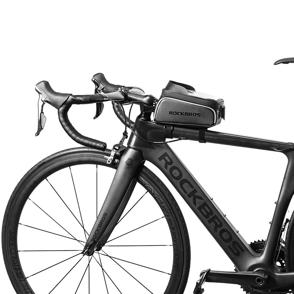 Bike Phone Bag Top Tube Bag Cycling Front Frame Bag Phone Holder ...