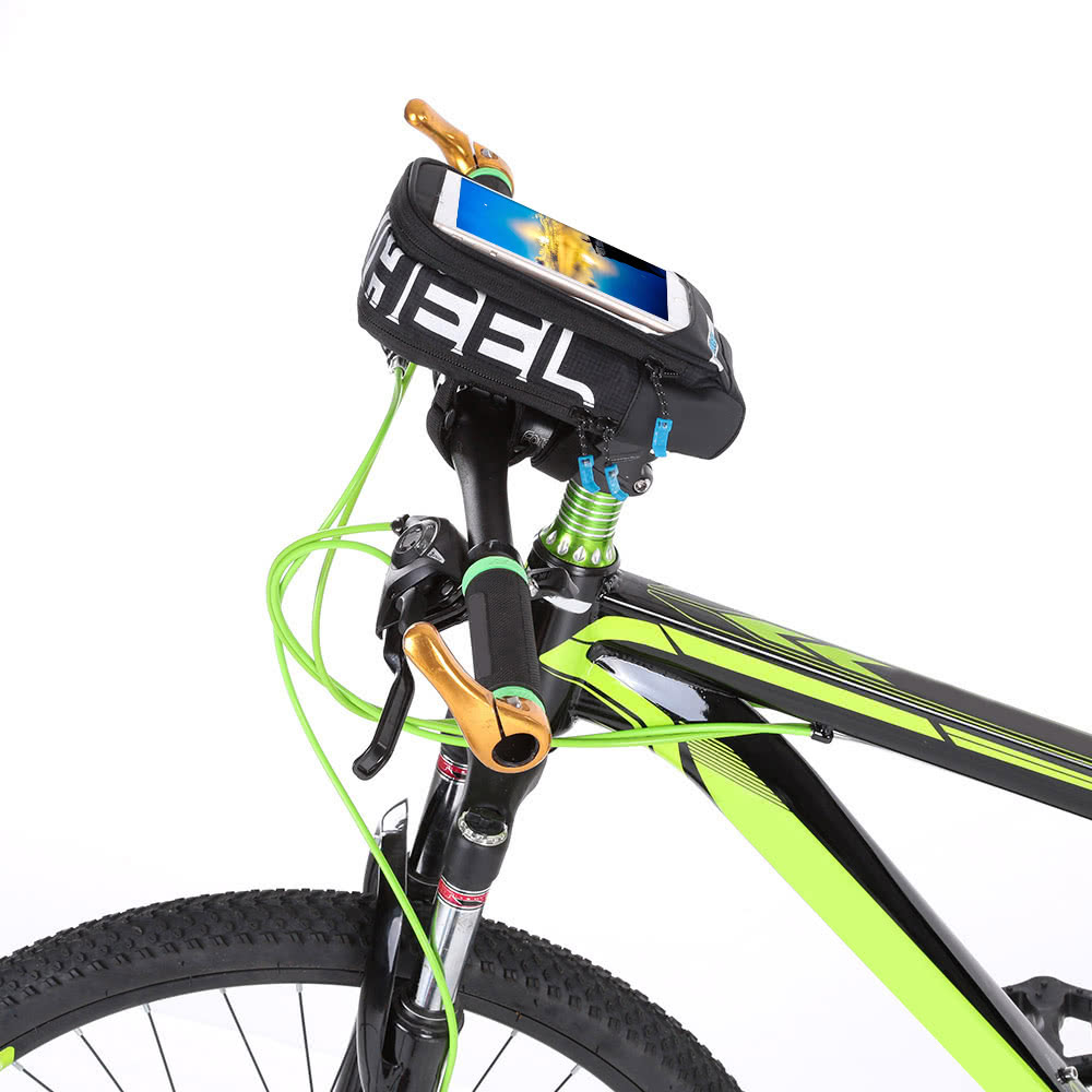 Multifunctional Bicycle Tube Frame Cycling Pannier Bike Bag Touchscreen Phone Holder Bag
