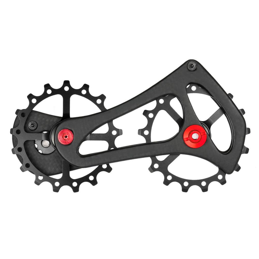 Lixada 17T Carbon Fiber Road Bike Rear Derailleur Pulleys Jockey Wheel Set