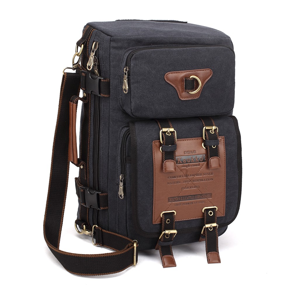 08c38c81a0d Specification  Fabric  16oz Canvas Liner  Cotton Color  Tan   Black  (Optional) Capacity  22L Carrying Mode  Backpack