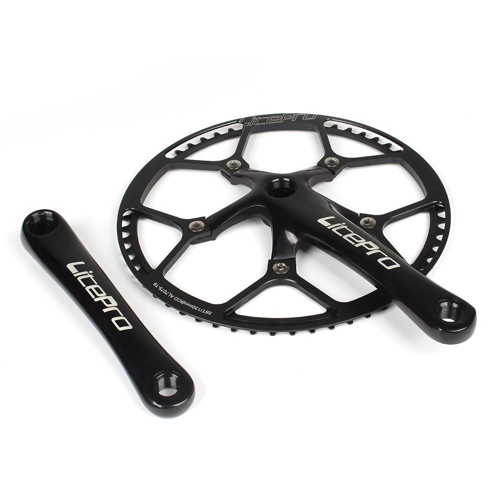 Bike Cycling Bicycle 170MM Crank Arm Set Folding Bike Crank BCD 130MM Five Square Holes Crankset Bike Accessories