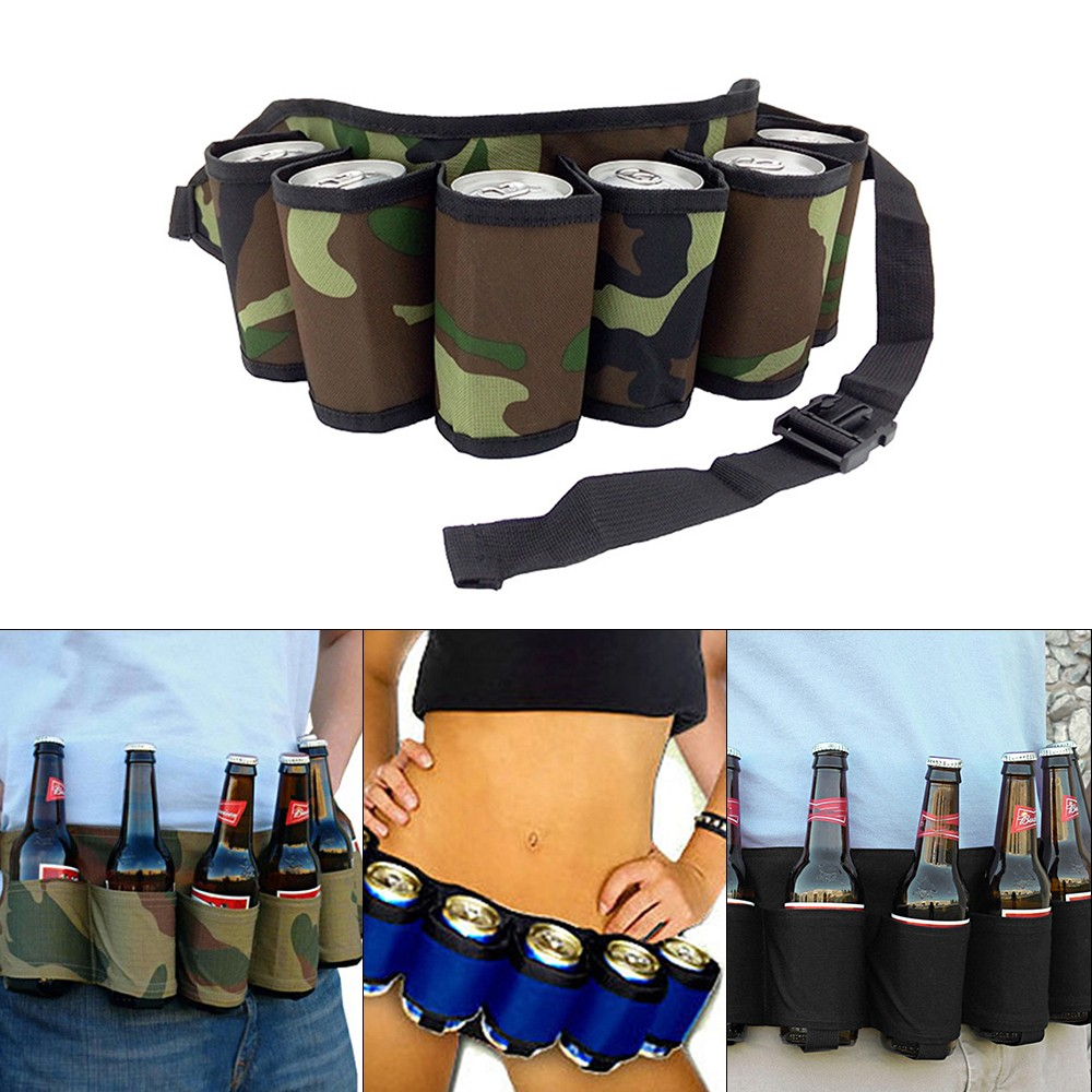 $2.6 OFF Outdoor Six Pack Beer Bottle Belt,free shipping $7.39