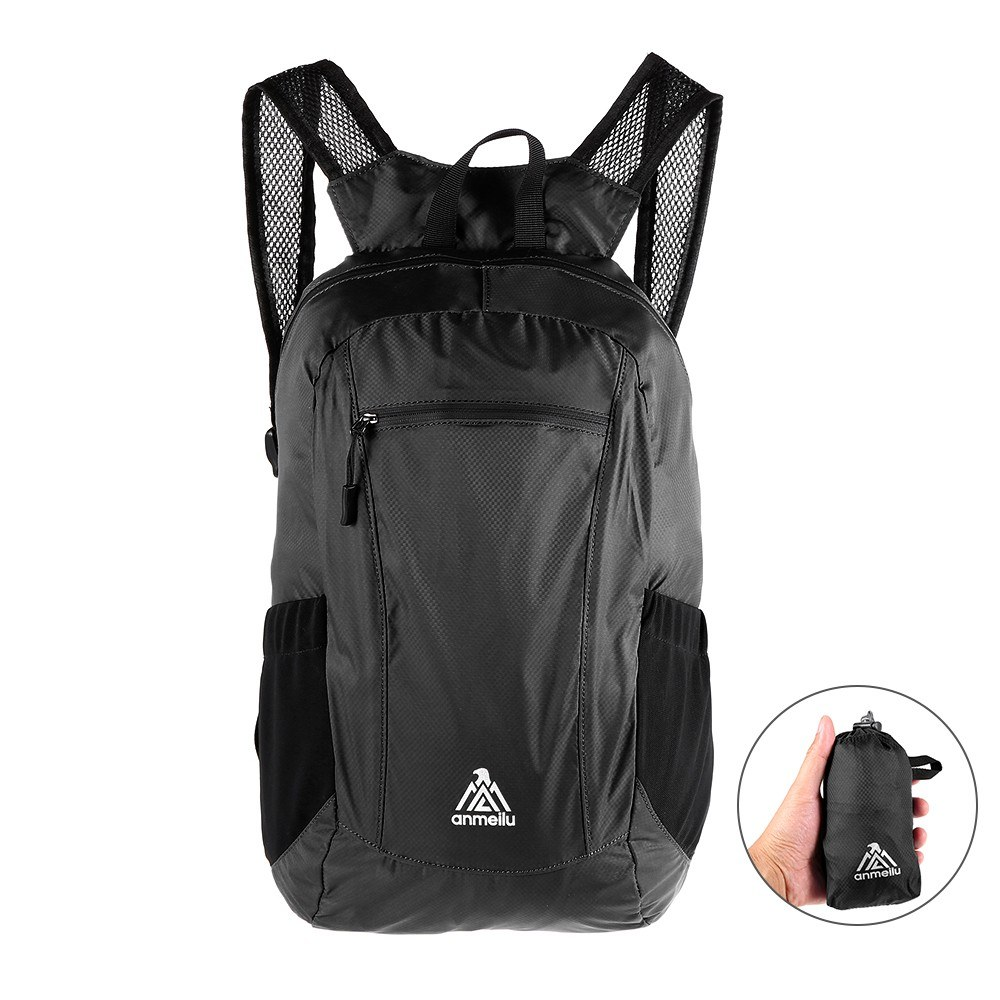 new release retail prices classic styles Best 18L Ultralight Foldable Backpack Waterproof Folding black ...