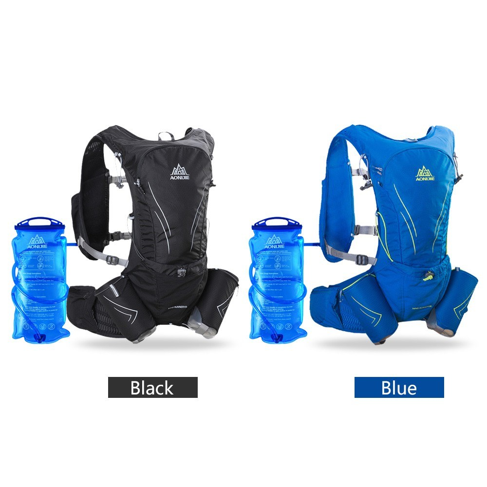 AONIJIE Hydration Vest Running Water Pack Vest Marathon Hydration Backpack Extra Water Bottle Emergency Blanket Whistle 2L Water Bladder