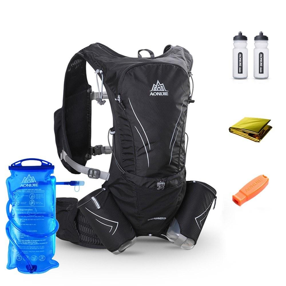 AONIJIE Hydration Vest Running Water Pack Vest Marathon Hydration Backpack Extra Water Bottle Emergency Blanket Whistle 2L Water Bladder - US$60.15 Sales ...