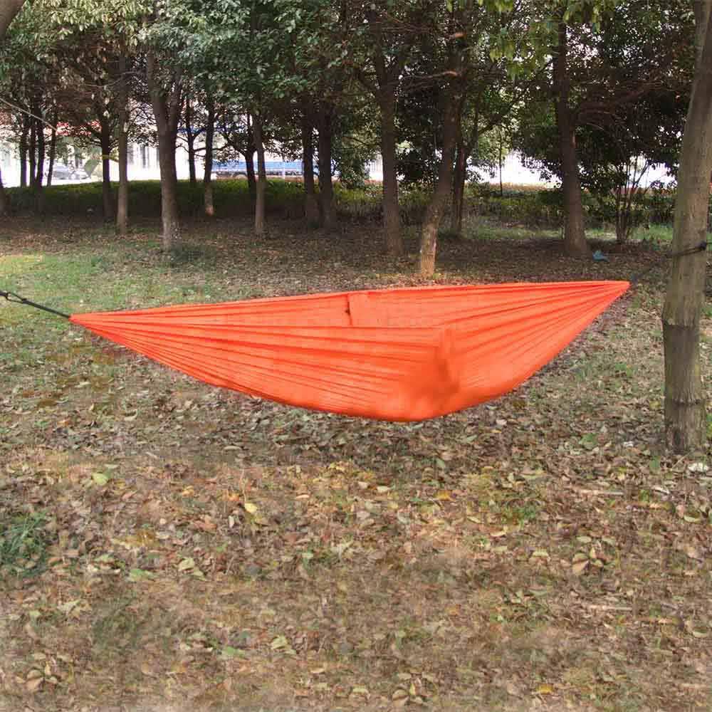 b48744398 Lixada portátil compacto durable tela de nylon que viaja que acampa de la hamaca  para dos personas naranja - Tomtop.com
