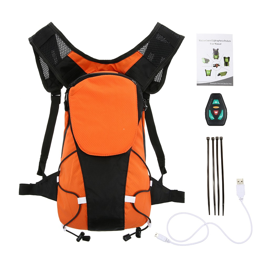 Bicycle Accessories Helpful Lixada Reflective Vest Backpack With Led Turn Signal Light Remote Control Outdoor Sport Safety Bag Gear Usb Rechargeable