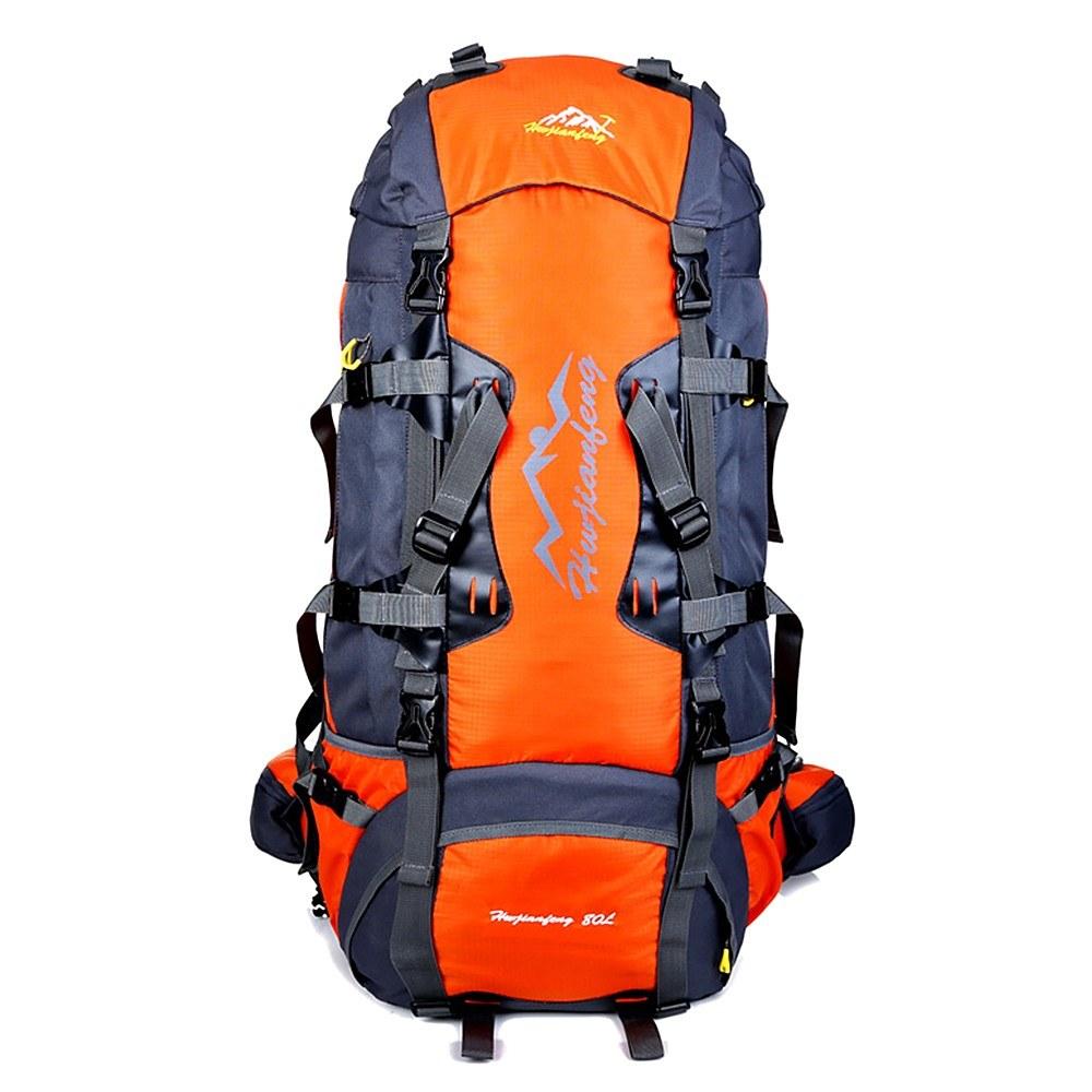 Beste 80L Rucksack Interner Rahmen Outdoor Wasserdicht orange ...