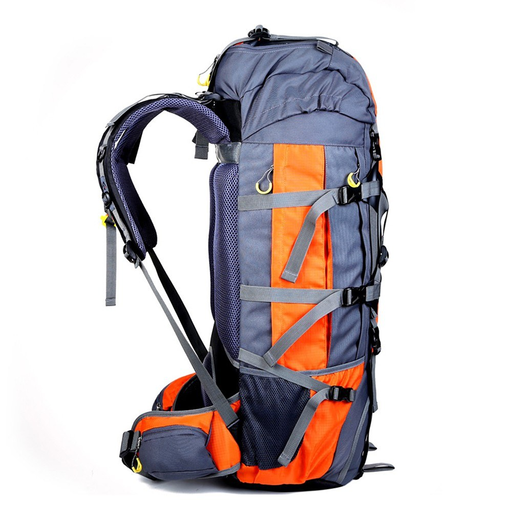 Beste 80L Rucksack Interner Rahmen Outdoor Wasserdicht orange ...
