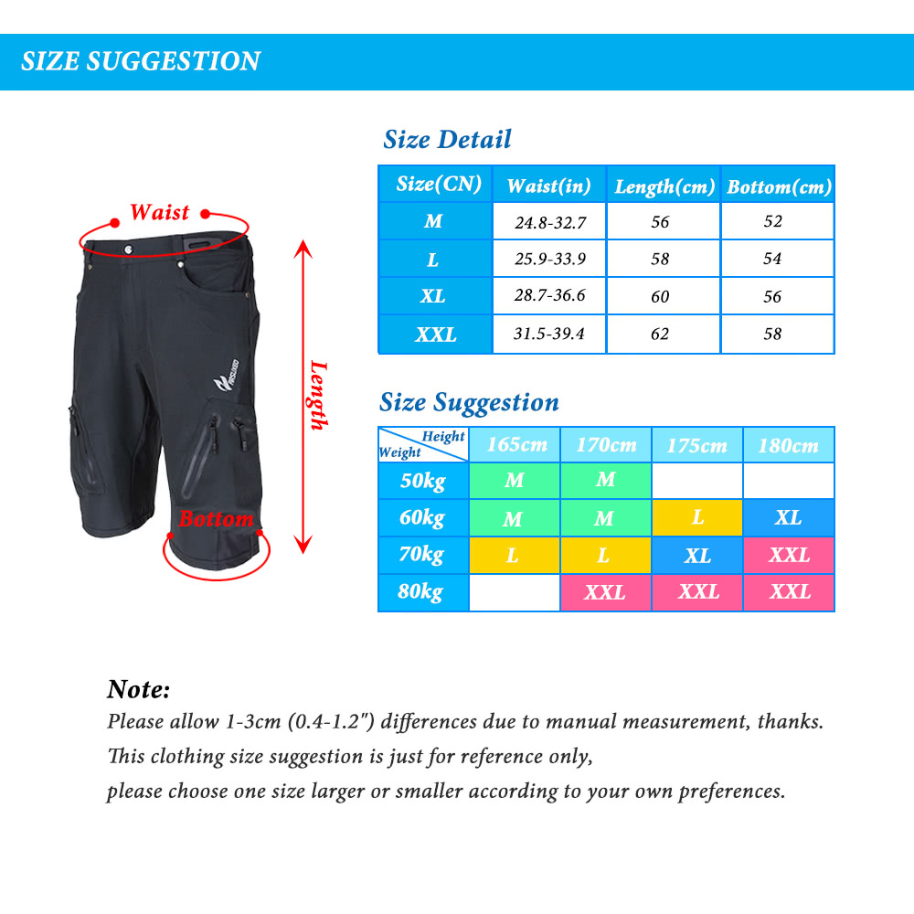 Lixada Baggy Shorts Cycling Bicycle Bike MTB Pants Shorts Breathable Loose  Fit Casual Outdoor Cycling Running Clothes Polyamide with Zippered Pockets 883b26514