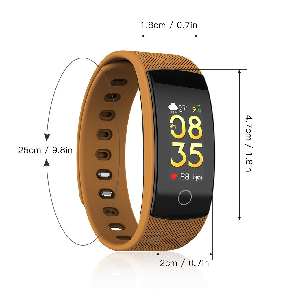 New QS80 PLUS Fitness Tracker Sports Wristband