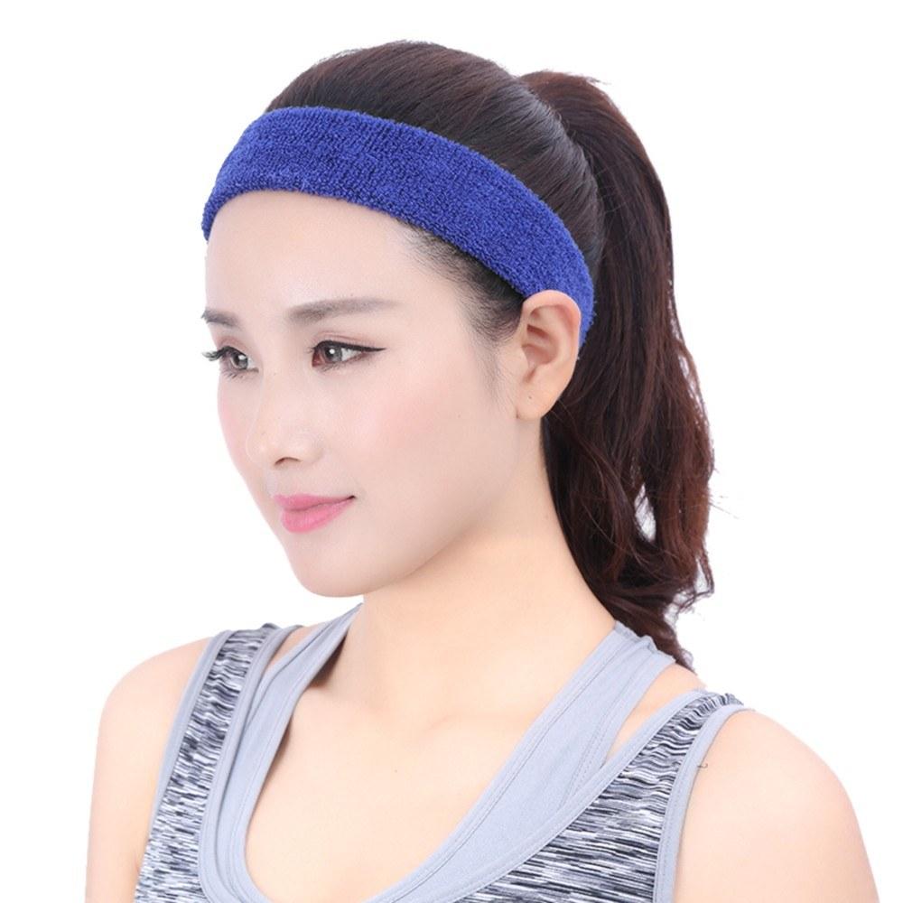 19a40905403d94 Sport Schweißband Männer / Frauen Elastisches Stirnband  Anti-Rutsch-Fitness-Haarband Athletic Cotton