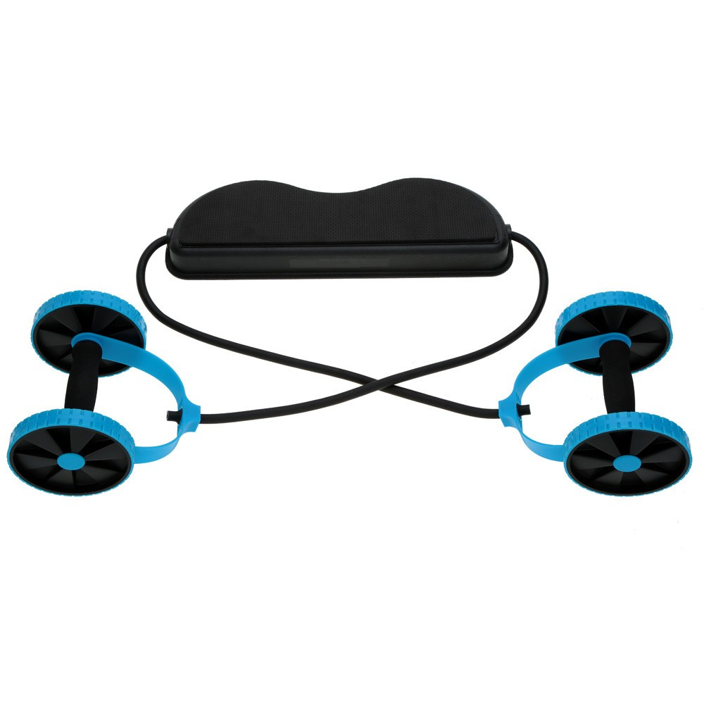 sport core double ab roller ab wheel fitness abdominal. Black Bedroom Furniture Sets. Home Design Ideas