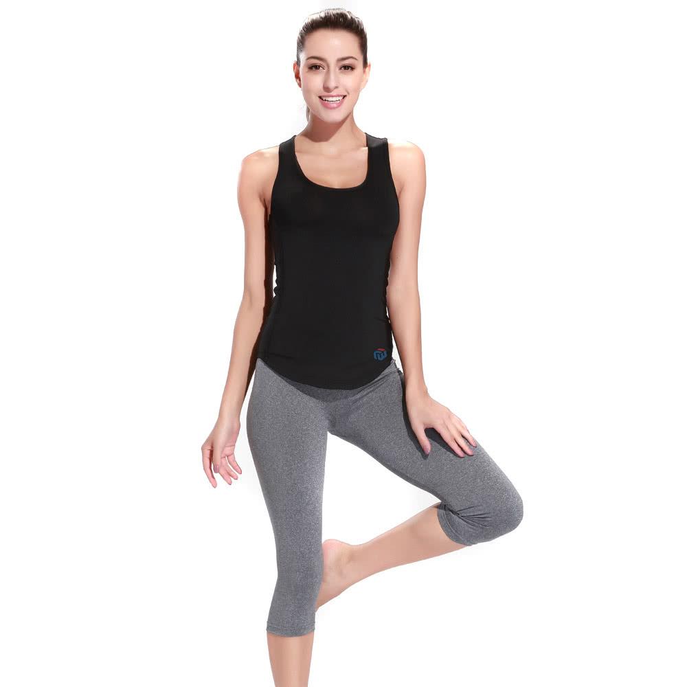 Lixada mujeres Racerback sin mangas camisa deportiva para correr gimnasio  Yoga moda chaleco de Yoga b511520cc577