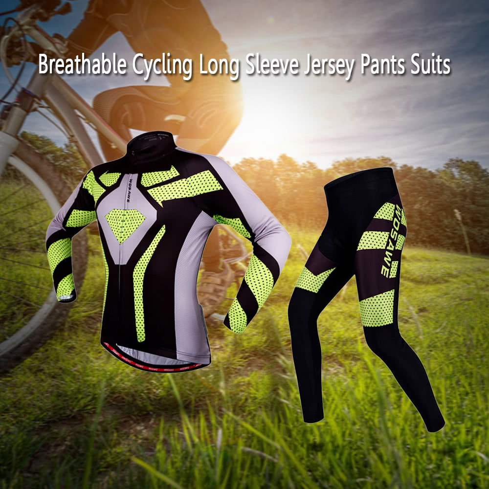76b81896a WOSAWE® Quick Dry Breathable Bike Bicycle Mountain Biking Unisex Cycling  Jersey Pants Tights Clothing Sets Suits Long Sleeve Outdoor Sports -  US 32.99 Sales ...