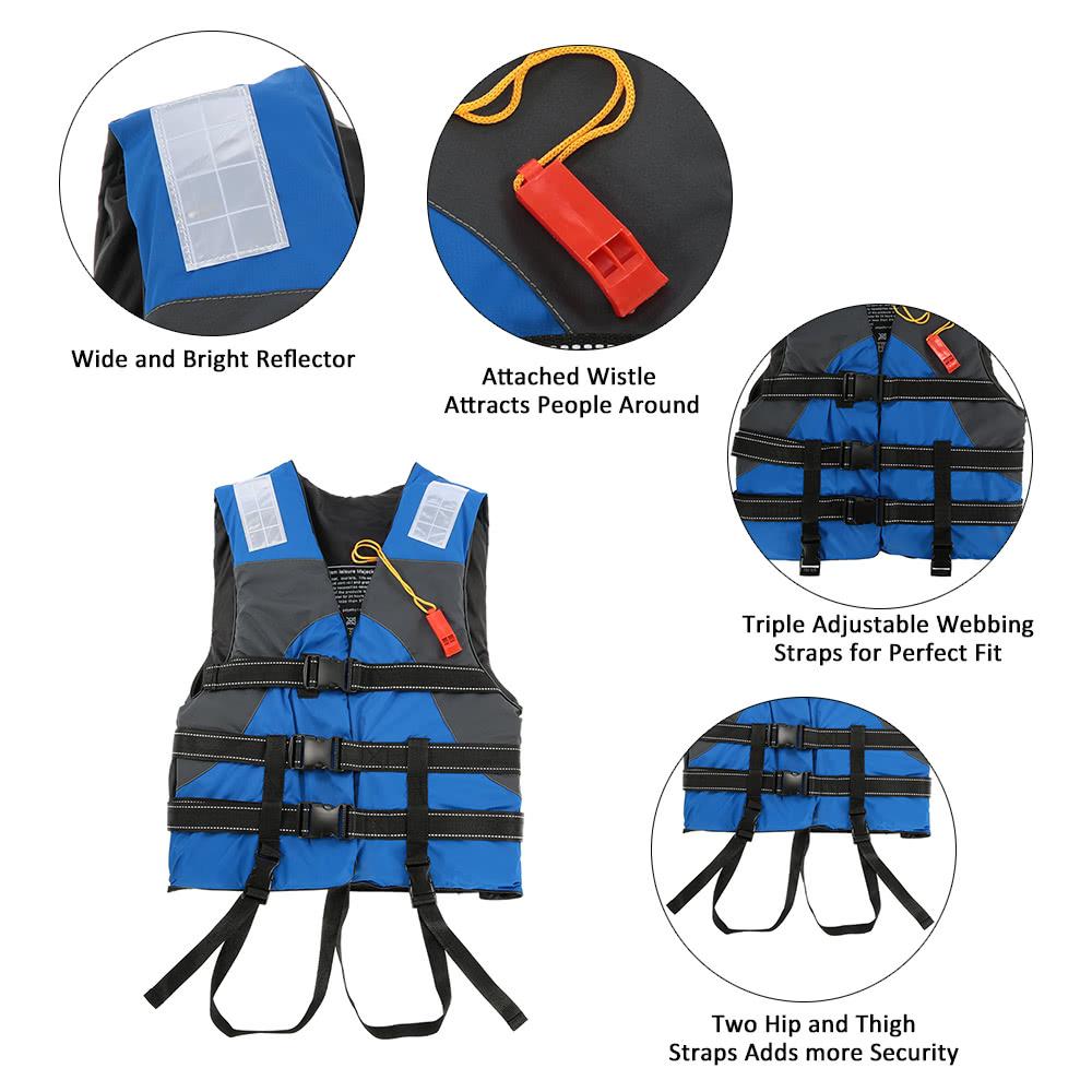 Lixada Outdoor Adult Lifesaving Life Jacket Flotation