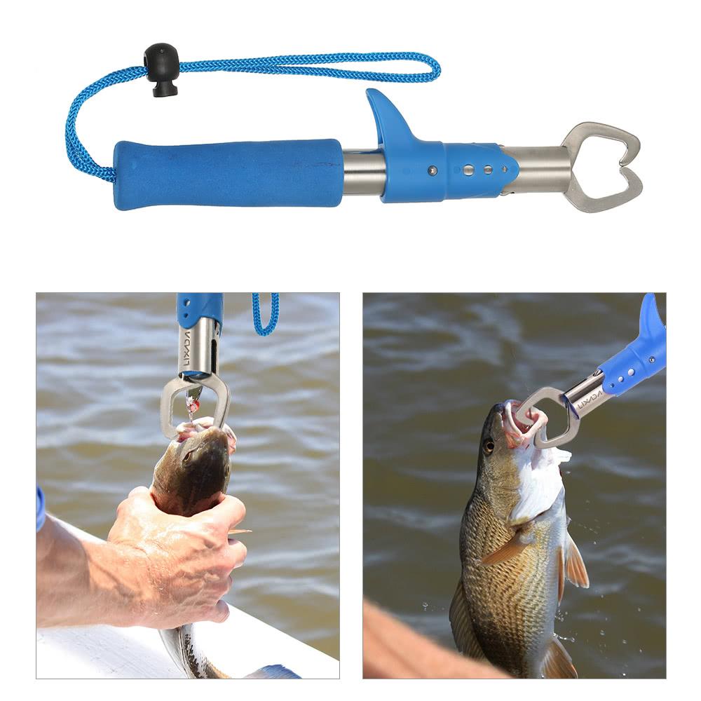Lixada stainless steel 15kg 33lb fish lip grip fishing for Best fish gripper