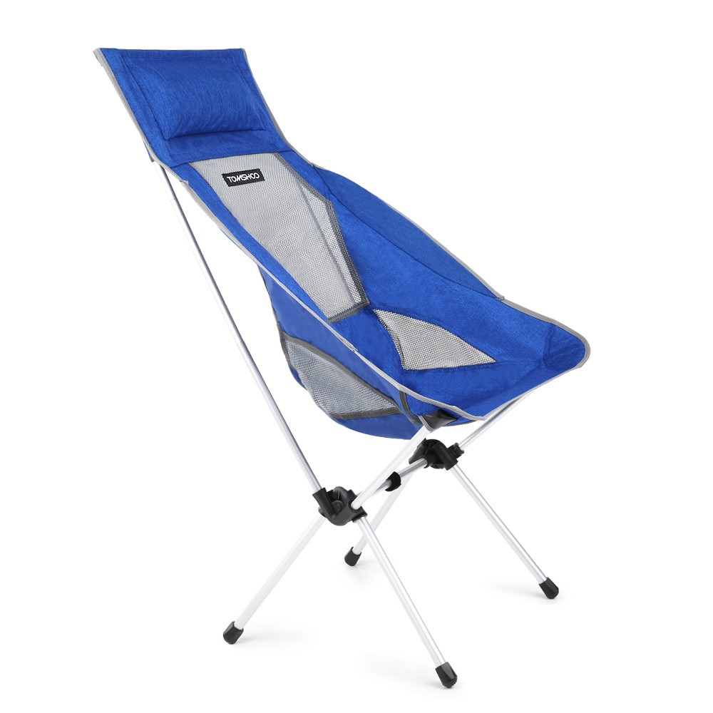 Meilleur Tomshoo Ligne Pliante Vente Bleu Portable En Chaise zSUpVGqM