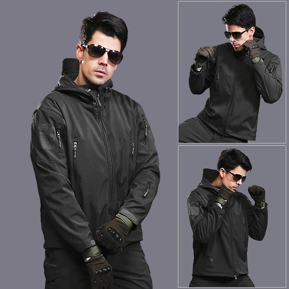 Outdoor Windproof Fleece Warm Shark Skin Soft Shell V4.0 Jacket