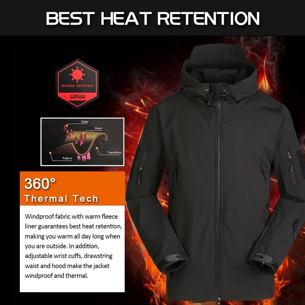 Outdoor Windproof Fleece Warm Shark Skin Soft Shell V4.0 Jacket
