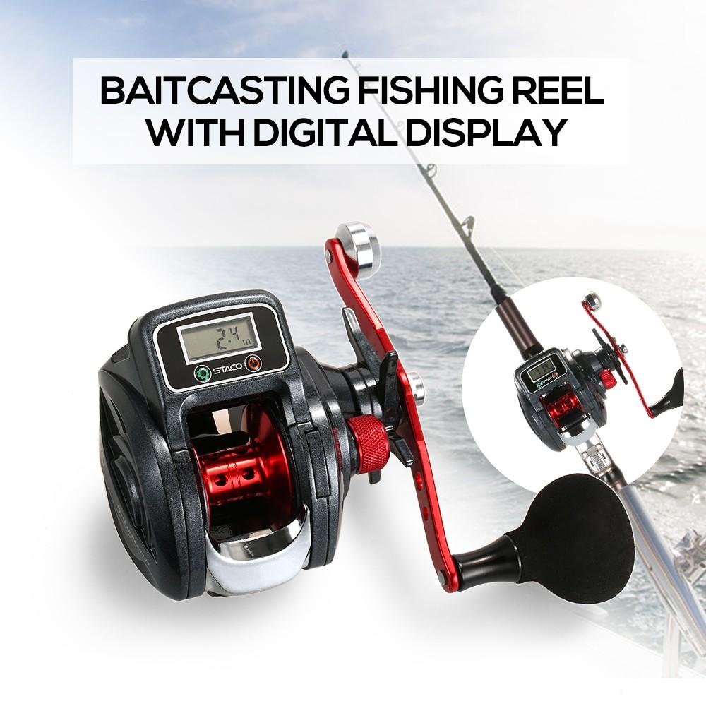 Low profile linecounter reel 6 3 1 13 1 ball bearing bait for Digital fishing reel