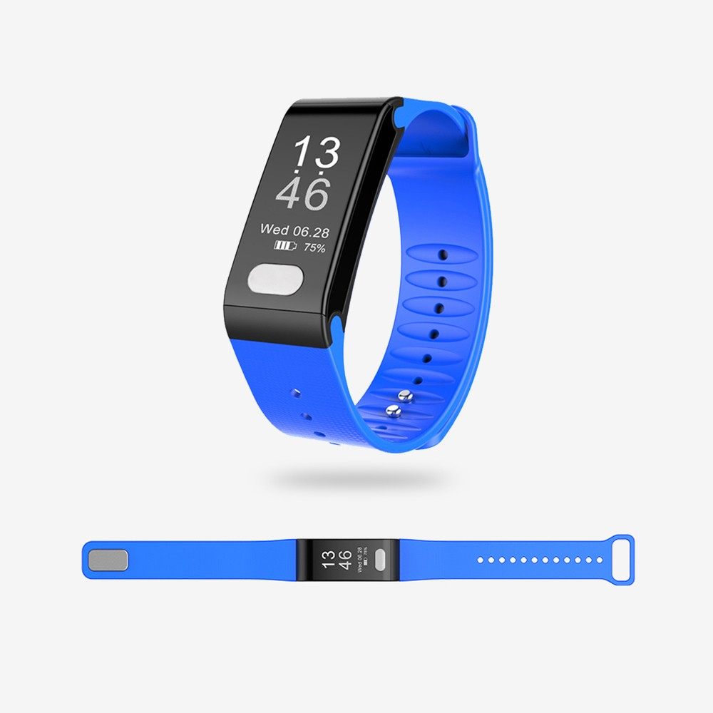Smartband Heart Rate Monitor Wristband Pedometer Sleep Monitor Smart Bracelet Health Fitness Tracker for Android and iOS