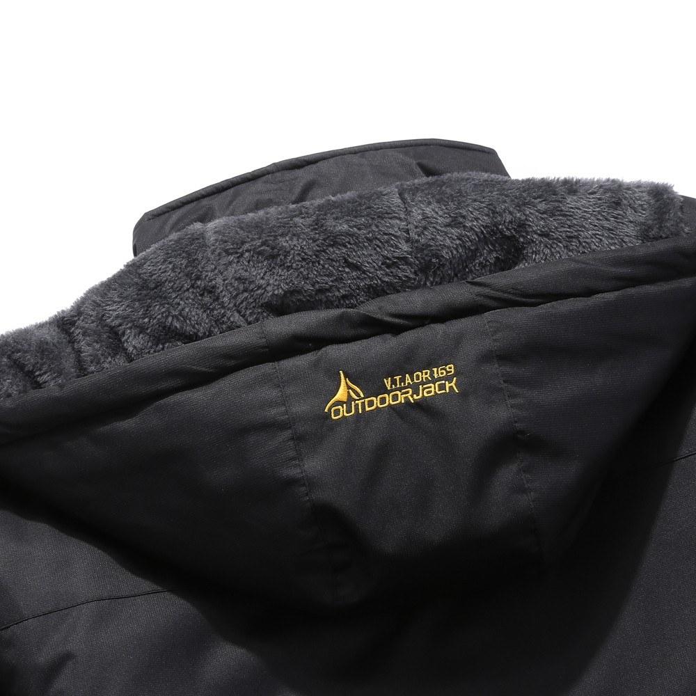 Large Size Men's Male Mountain Waterproof Ski Jacket Windproof Rain Winter Inner Fleece Waterproof Jacket Outdoor Sport Warm Brand Coat Hiking Camping ...