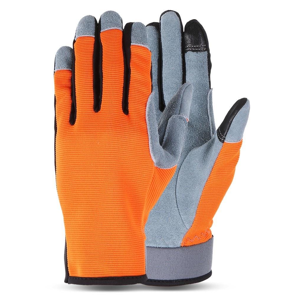 b9615e48e Best Riding Gloves Flexible Bicycle Riding Motorbike Driving orange ...