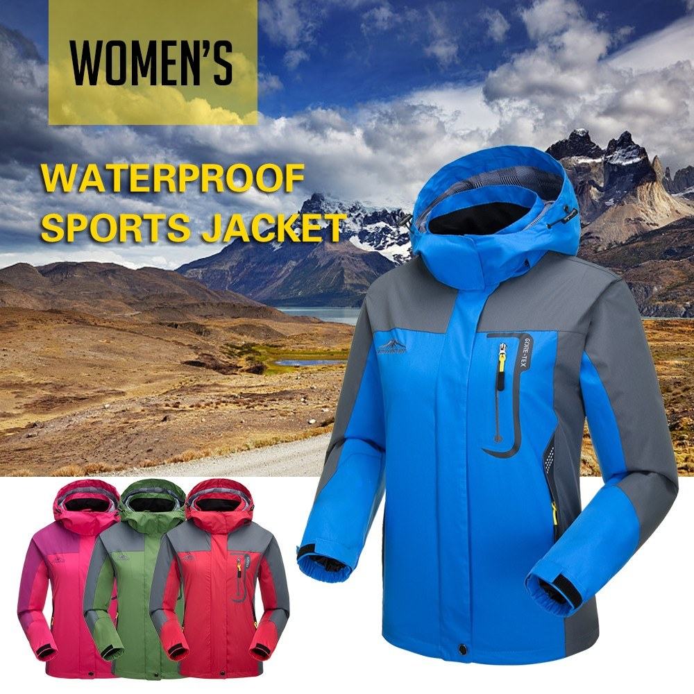 86c0312106f Lixada Waterproof Windproof Detachable Hooded Jacket for Women - US ...