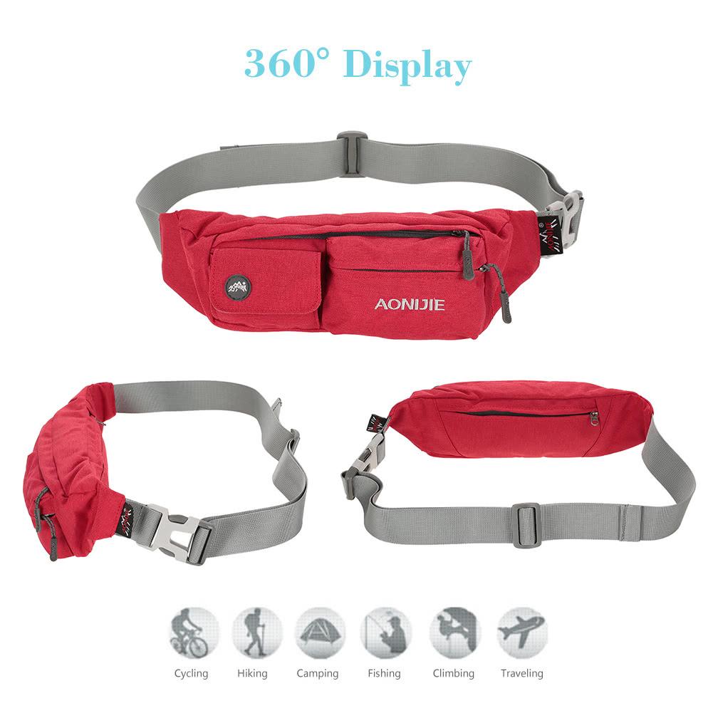 8409c41e2f86 AONIJIE Fanny Pack Waist Bag Travel Pocket Sling Chest Shoulder Bag Phone  Holder Running Belt With Separate Pockets Adjustable Band for Workout  Vacation ...
