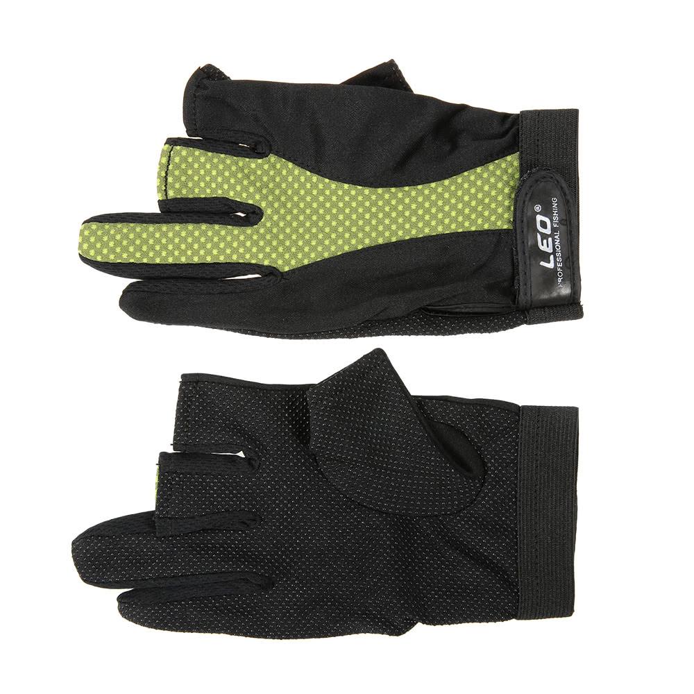 1 pair 3 fingerless gloves anti slip breathable for Fingerless fishing gloves