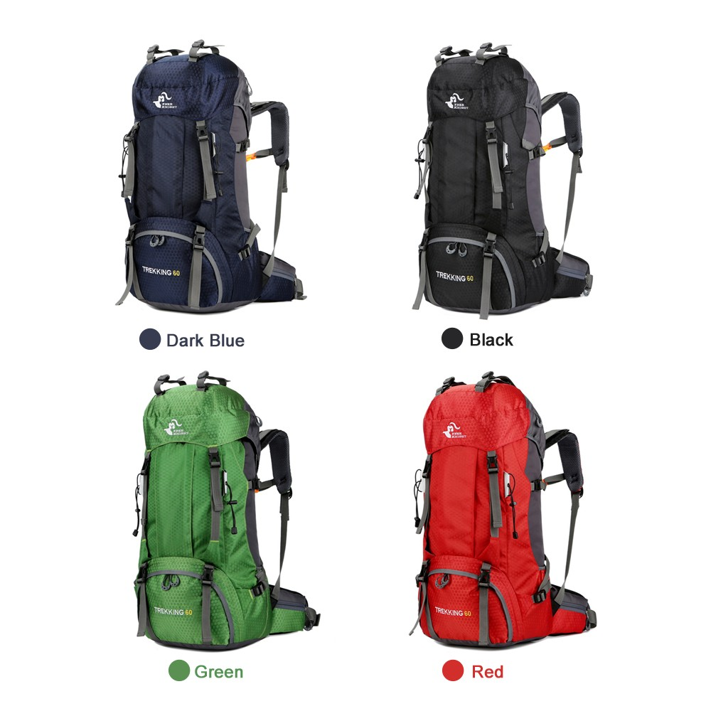917f4af89b Free Knight 60L Hiking Backpack Mountaineering Camping Trekking Travel Bag  Large Capacity Internal Frame Water Resistant for Outdoor with Rain Cover  ...