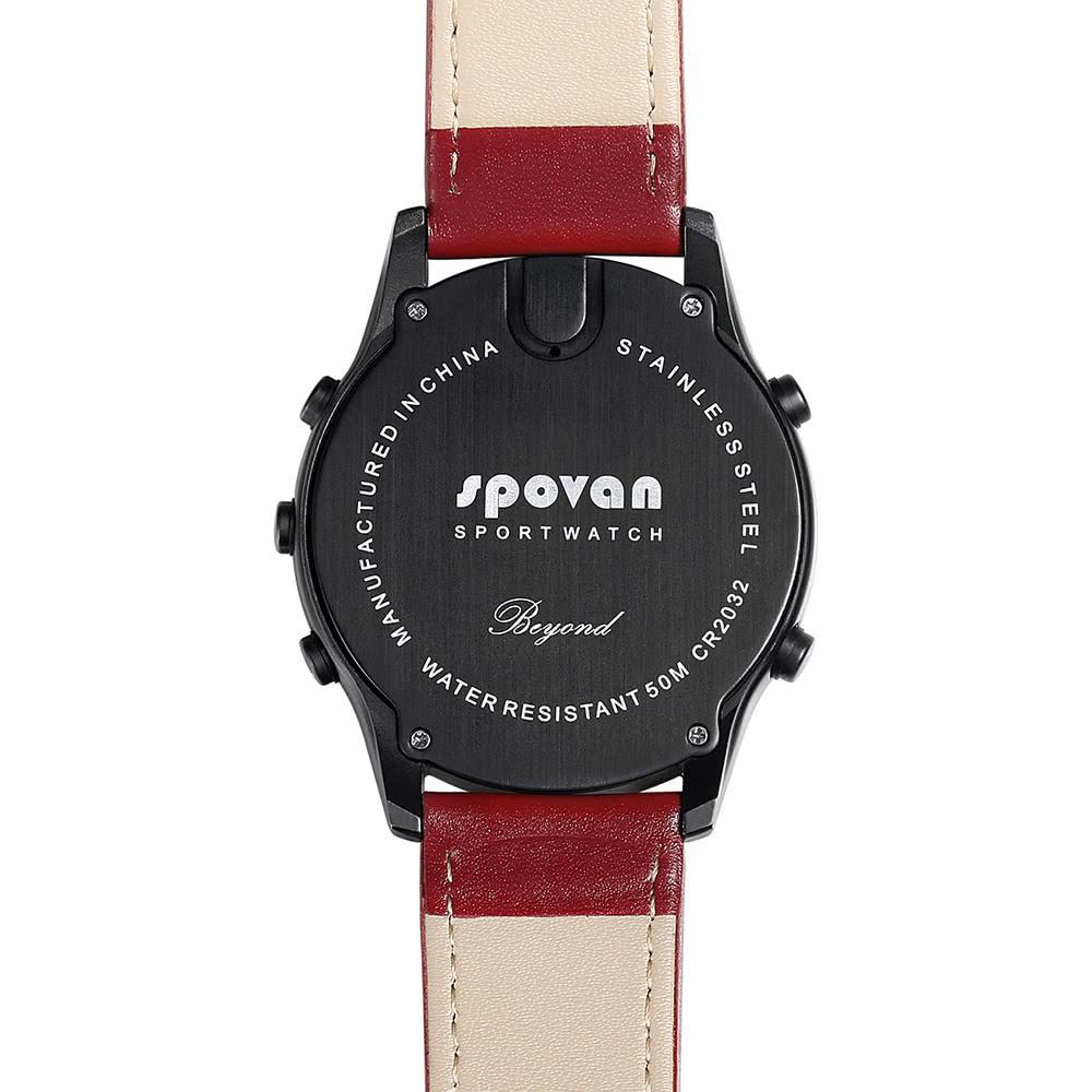 spovan digital smart watch avec bracelet en cuir v ritable. Black Bedroom Furniture Sets. Home Design Ideas