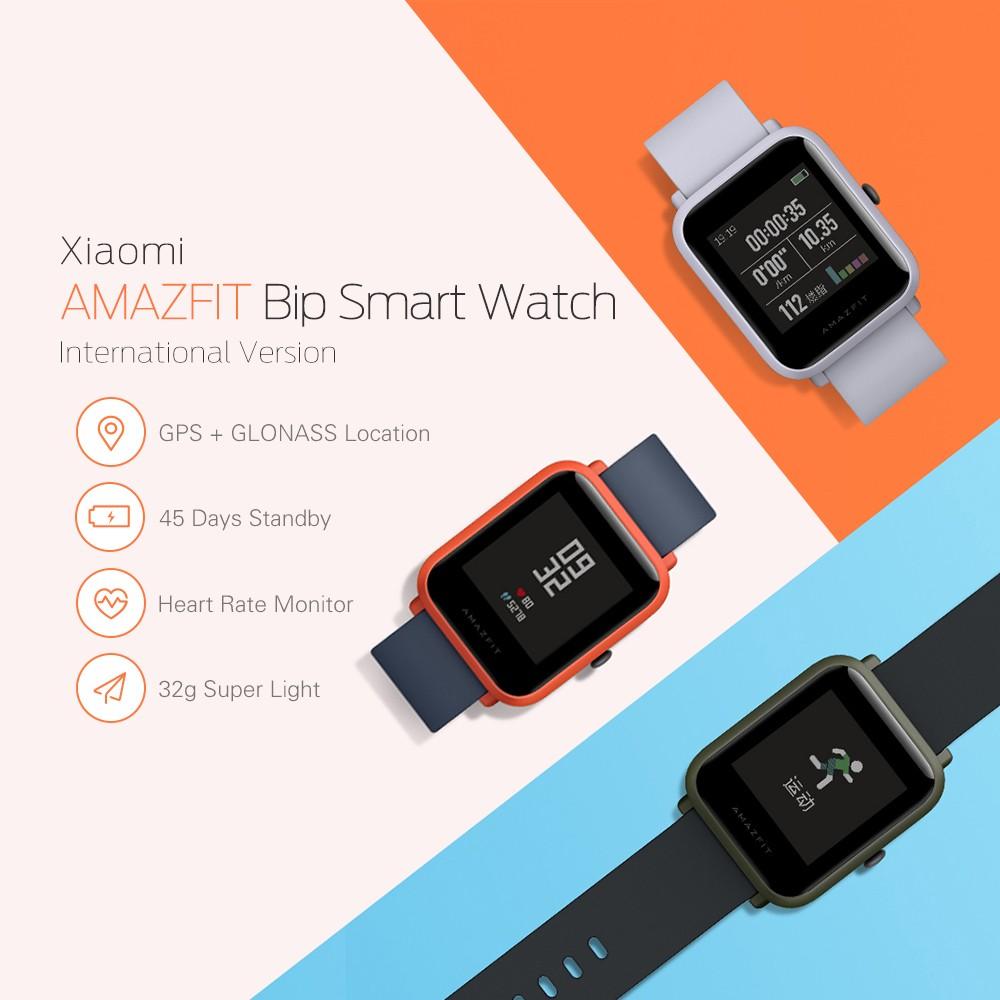 Xiaomi Amazfit Smartwatch International Version With Gps And Heart Huami Cor Hitam Rate Sensor 100 English