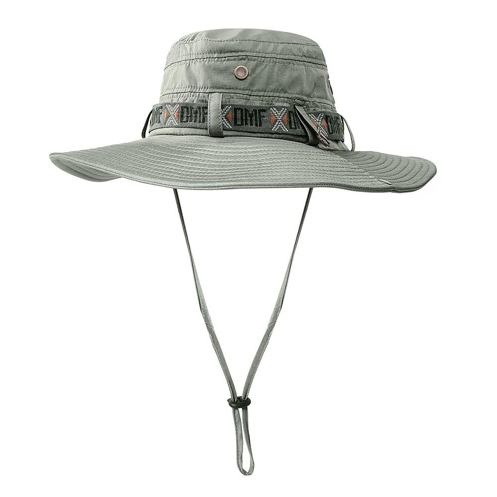 c4a7d298871 Best Outdoor Foldable Sun Hat Summer UV Protection Safari dark green ...