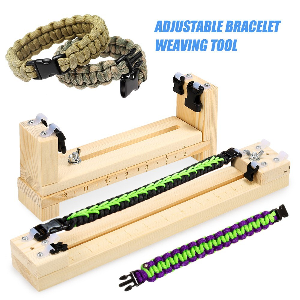Wood Bracelet Jig Tool Survival Wristband Knitting Tool