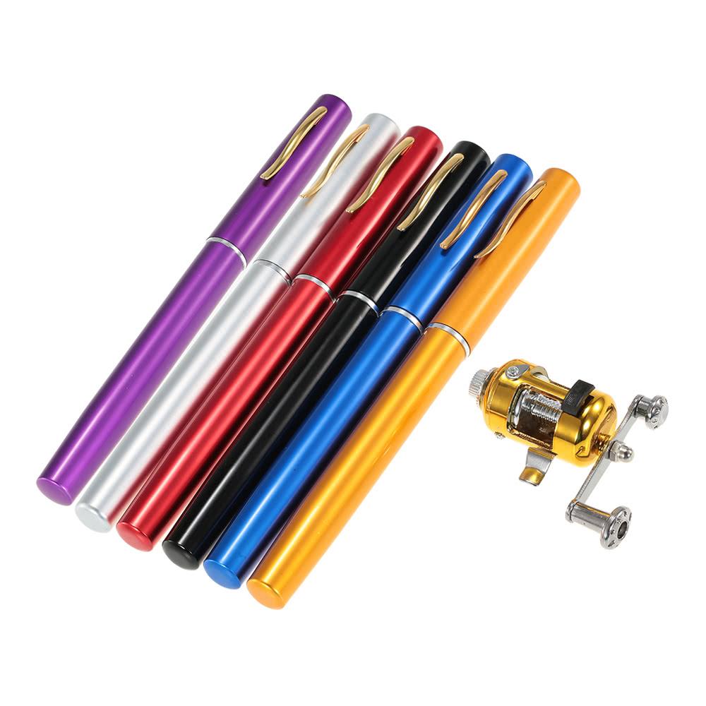 Fishing rod reel combo kit set mini telescopic portable for Fishing rod set