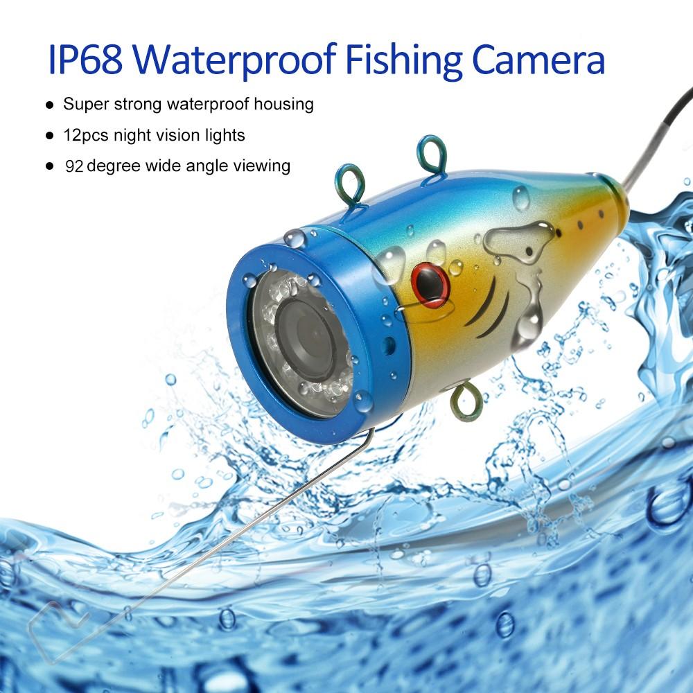 Lixada f001m 15m underwater fishing camera kit us for Best underwater fishing camera
