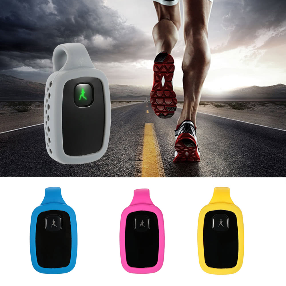 ​Wireless Rechargeable Mini Smart BT4.0 Health Monitor Recorder Step Distance Calories Monitor Activity Sleep Tracker Fitness Gear with Sleep Wrist Band