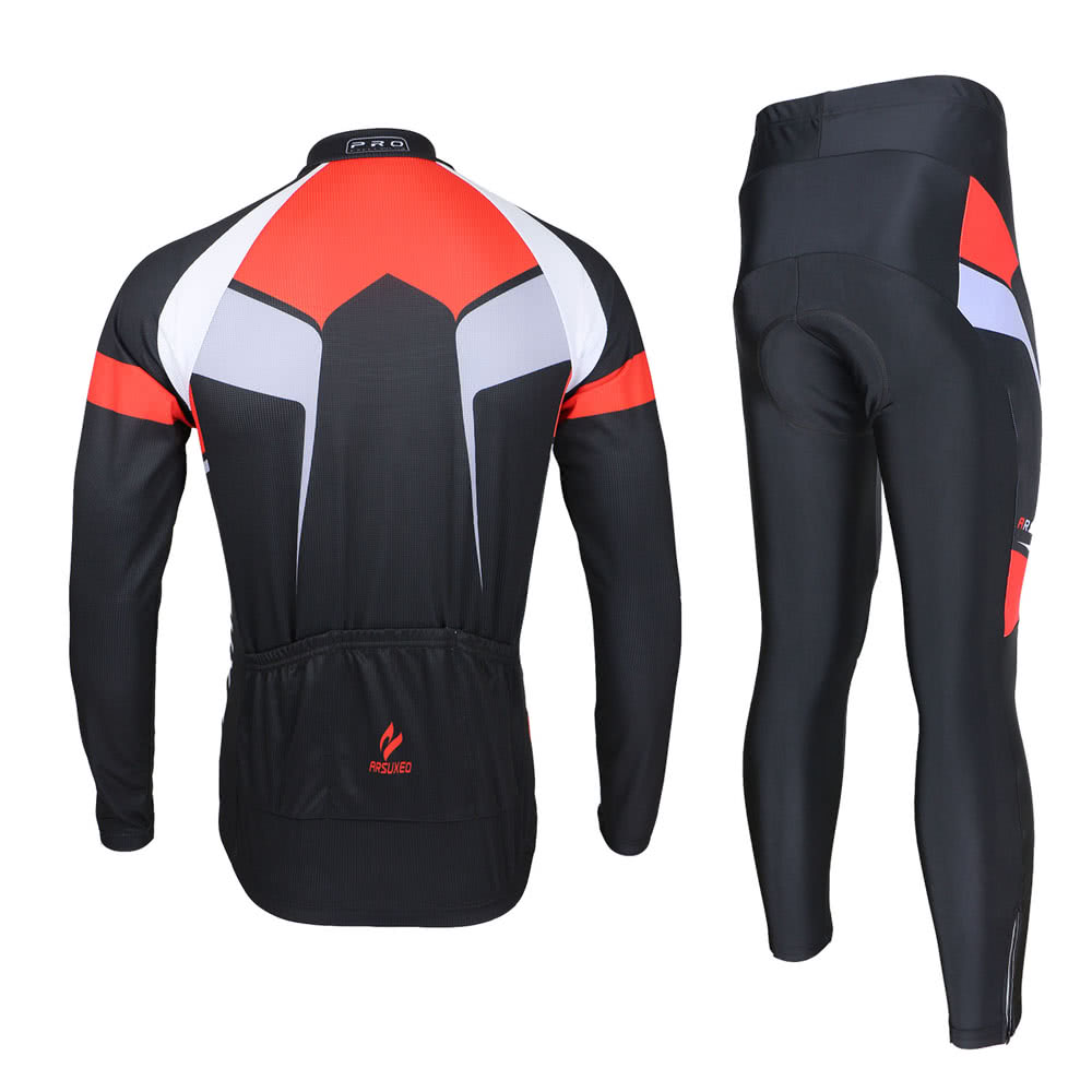 Arsuxeo spring autumn cycling clothing set sportswear suit for Fast set gartenpool xxl
