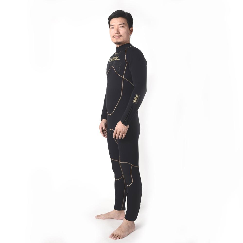 SLINX 5mm hombres neopreno manga larga polar forro termal traje buceo  invierno natación Surf Windsurf Buceo traje de baño 68c7cca8ba3