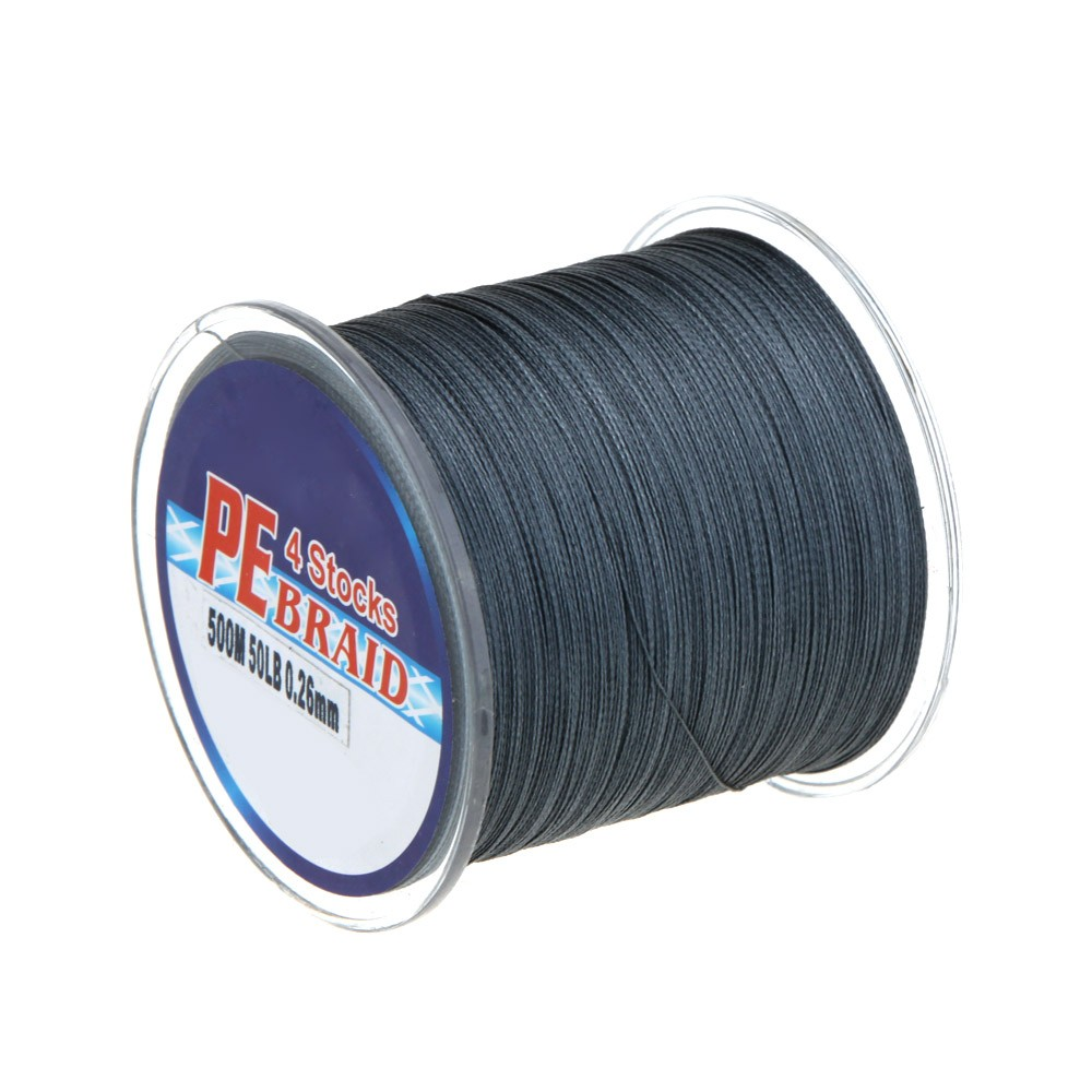 500m 50lb colorful 4 strands multifilament pe braid for Pline fishing line