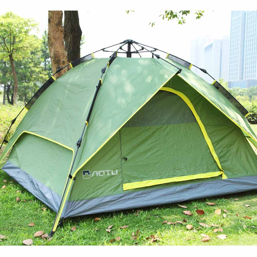 3-4 People Double Layers Waterproof Breathable Automatic Tent with Bag & 3-4 People Double Layers Waterproof Breathable Automatic Tent with ...