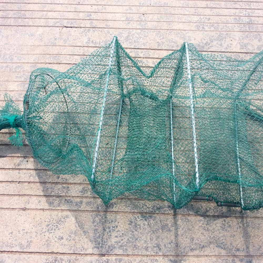 3m 19 Layers Knot Mesh Collapsible Fishing Net Cage Fish Trap Shrimp Crab Cage Fishing Tackle - US$21.69 Sales Online green - Tomtop