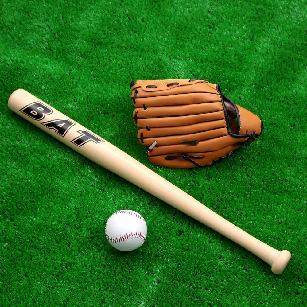 conjunto de madera bate guante pelota softbol deporte al aire libre para los ni os practicar. Black Bedroom Furniture Sets. Home Design Ideas