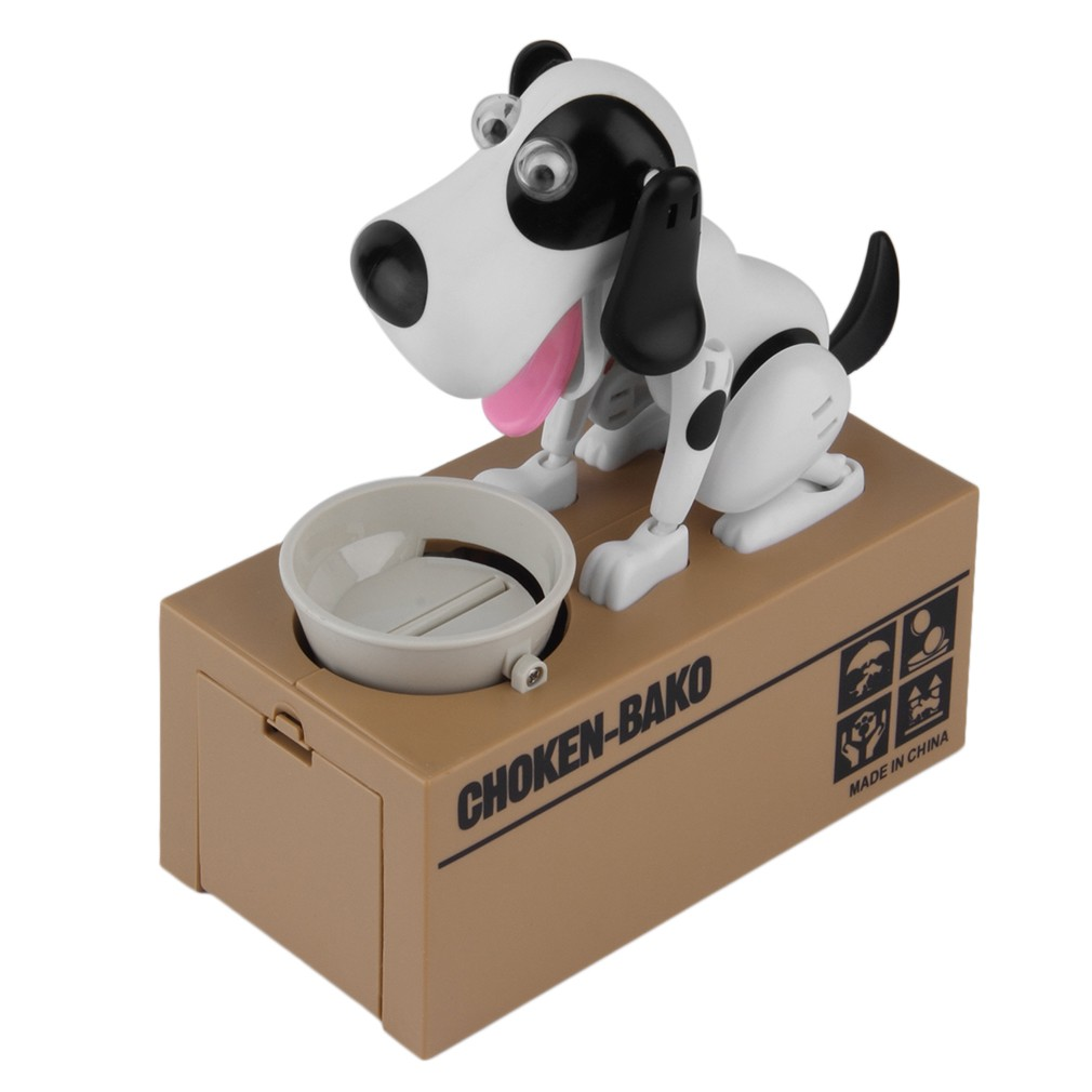 mignon chien mod le tirelire money save pot coin box creative cadeau blanc. Black Bedroom Furniture Sets. Home Design Ideas