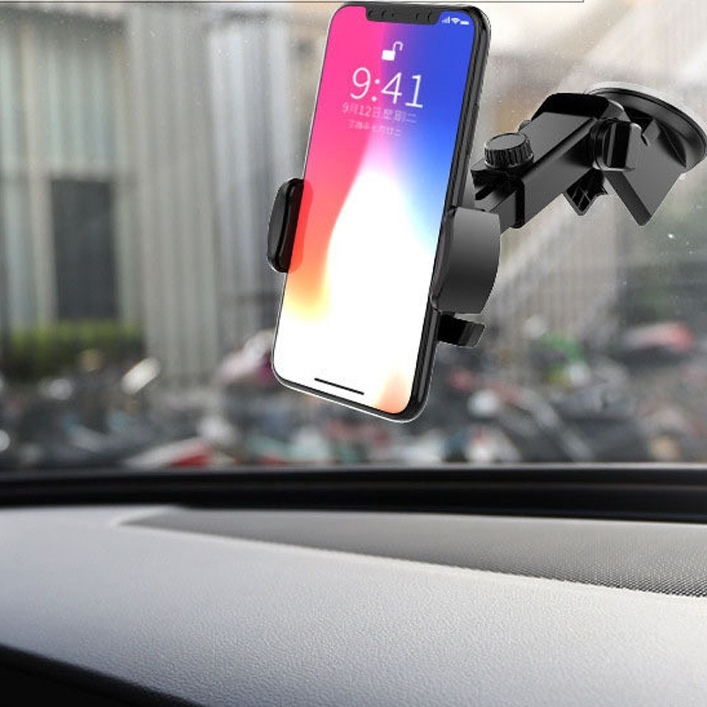 Car Mobile Phone Bracket Plone Holder with Expansion Rod Auto Dashboard  Suction Sales Online black - Tomtop