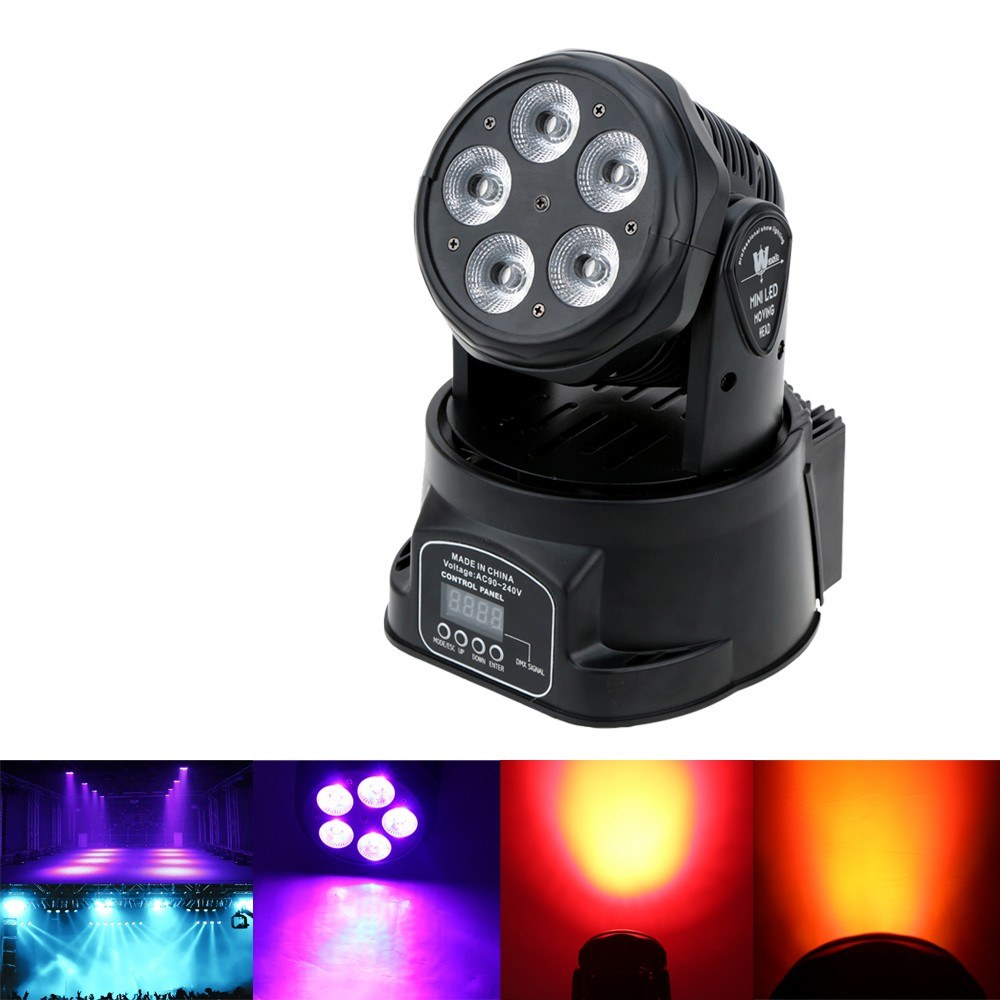 5925-OFF-Lixada-75W-5-LEDs-Colors-Changing-Head-Moving-Light-Stage-Wash-Lamplimited-offer-245999