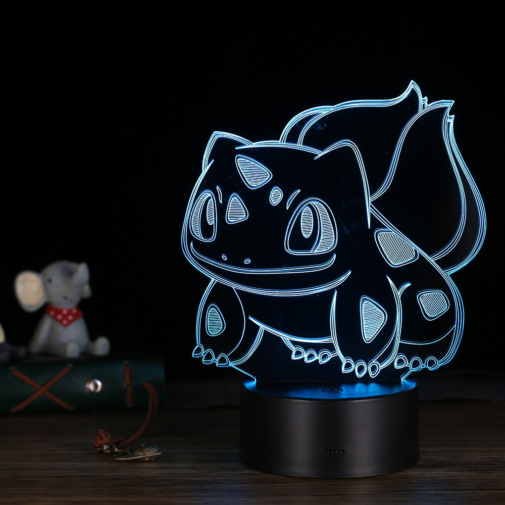 $1.81 OFF 3D LED Desk Lamp Colorful Table Night Light,free shipping $10.82